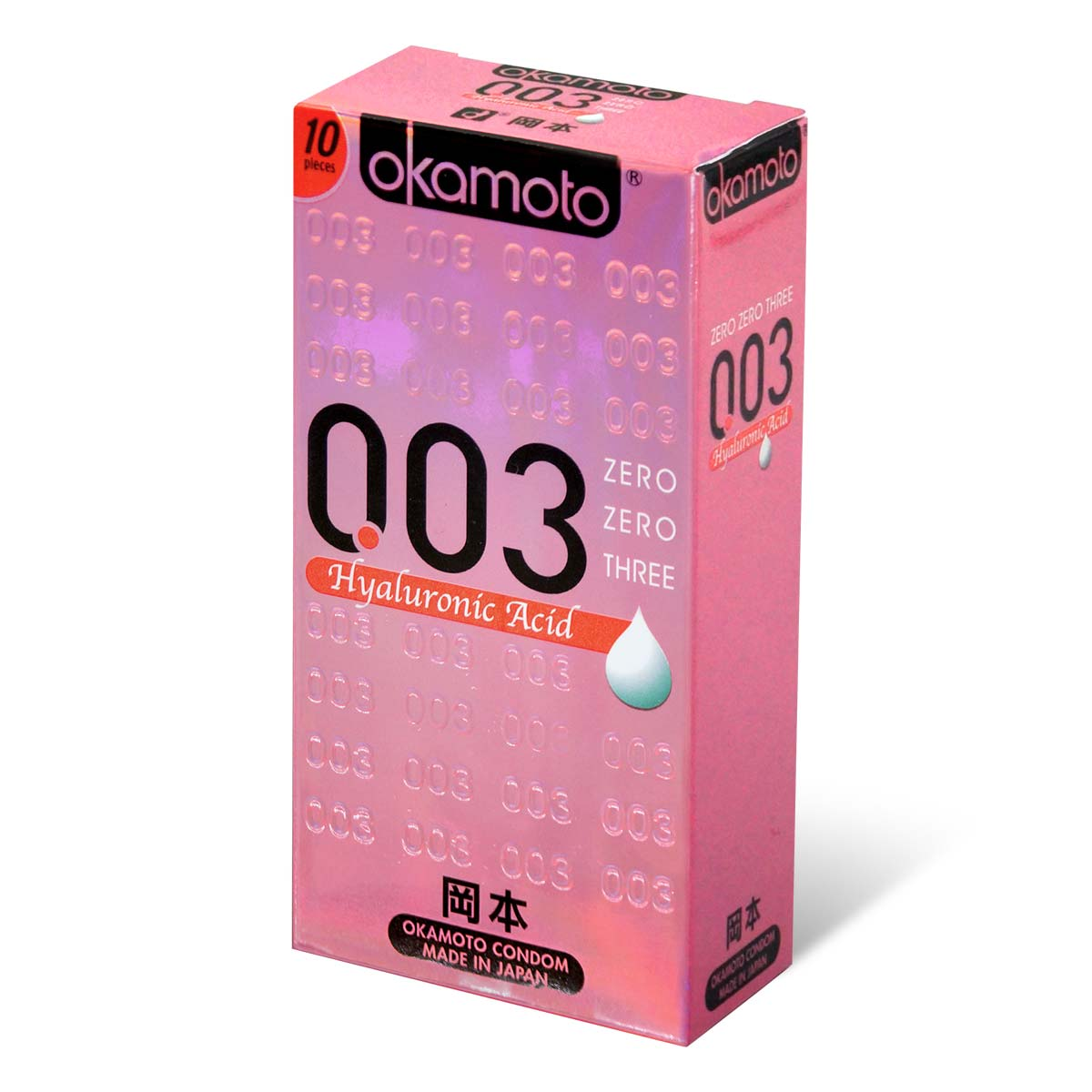 Okamoto 0.03 Hyaluronic acid 10's Pack Latex Condom